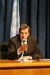 Press conference at UN