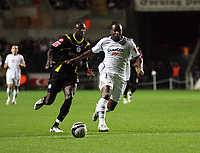 Pictured: Jason Scotland of Swansea City in action <br /> Re: Coca Cola Championship, Swansea City Football Club v Queens Park Rangers at the Liberty Stadium, Swansea, south Wales 21st October 2008.