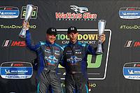 #73 LA Honda World Racing Honda Civic TCR, TCR: Mike LaMarra, Mat Pombo, podium