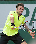 May 23, 2016:  Stan Wawrinka (SUI) defeated Lucas Rosol (CZE) 4-6, 6-1, 3-6, 6-3, 6-4, at the Roland Garros being played at Stade Roland Garros in Paris, .  ©Leslie Billman/Tennisclix/CSM