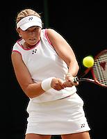29-06-2004, London, tennis, Wimbledon, Michaella Krajicek in actie tegen Thijssen