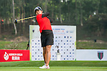 Ching Tzu Chen of Chinese Taipei tees off at tee one during the 9th Faldo Series Asia Grand Final 2014 golf tournament on March 18, 2015 at Faldo course in Mid Valley clubhouse in Shenzhen, China. Photo by Xaume Olleros / Power Sport Images