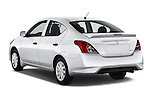 Car pictures of rear three quarter view of 2015 Nissan Versa 1.6 SV CVT 4 Door Sedan Angular Rear