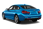Car pictures of rear three quarter view of a 2018 BMW 4 Series Gran Coupe 440i M Sport 5 Door Hatchback angular rear