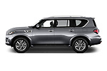 Car driver side profile view of a 2019 Infiniti QX80 Base 5 Door SUV