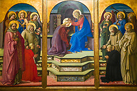 """Fra Filippo Lippi's """"The coronation of the Virgin Mary"""", Italian Renaissance painting in the Vatican Museum Rome Italy, Southern Europe"""