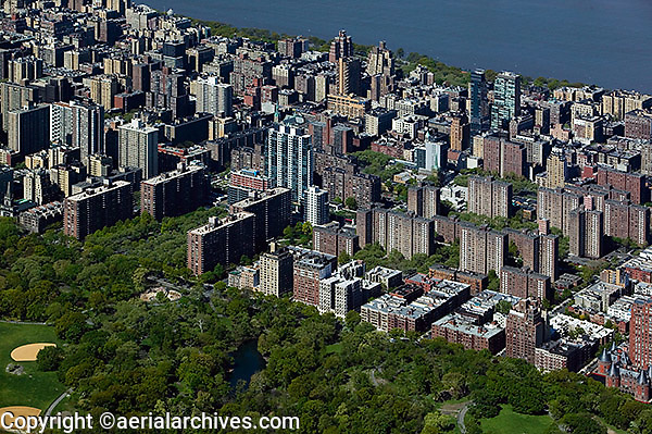 aerial photograph Upper West Side, Central Park, Manhattan, New York City