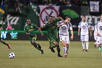 Portland, Oregon - Saturday, April 14, 2018: Portland Timbers vs Minnesota United FC in a match at Providence Park.
