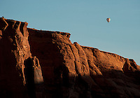 Balloonist over Moab Utah area.