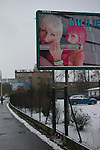 girls on a poster in Ostrava