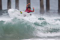 Huntington Beach, CA - Saturday August 05, 2017: Hiroto Ohhara during a World Surf League (WSL) Qualifying Series (QS) fifth round heat in the 2017 Vans US Open of Surfing on the South side of the Huntington Beach pier.