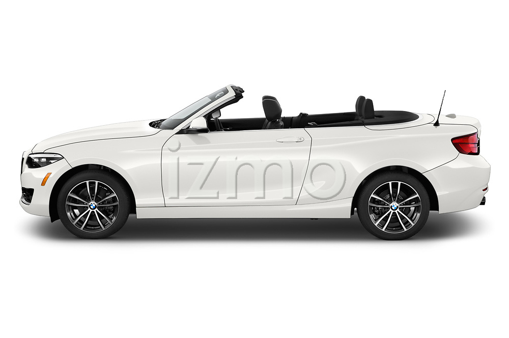 Side profile view of a 2019 BMW 2 Series 230i Sport Line 2 Door Convertible