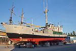 Port Townsend, salmon tender, Robert S, boat harbor, classic fishing boats, Olympic Peninsula, Washington State, Pacific Northwest, USA,