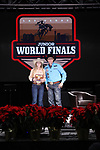 Sage Webster during the Break Away and Tie Down Roping Back Number presentation at the Junior World Finals. Photo by Andy Watson. Written permission must be obtained to use this photo in any manner.