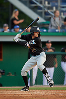 West Virginia Black Bears Matt Gorski (36) at bat during a NY-Penn League game against the Batavia Muckdogs on June 25, 2019 at Dwyer Stadium in Batavia, New York.  Batavia defeated West Virginia 7-3.  (Mike Janes/Four Seam Images)