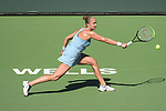 Shelby Rogers (USA) defeated Leylah Fernandez (CAN) 2-6, 6-1, 7-6 (6-4), at the BNP Paribas Open being played at Indian Wells Tennis Garden in Indian Wells, California on October 12,2021: ©Karla Kinne/Tennisclix/CSM