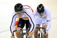 Southland's Matt (Matthew) Archibald in the team sprint at the BikeNZ Elite & U19 Track National Championships, Avantidrome, Home of Cycling, Cambridge, New Zealand, Sunday, March 16, 2014. Credit: Dianne Manson