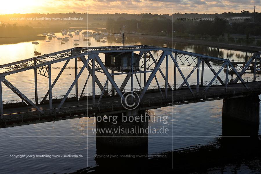 URUGUAY Bridge at river Santa Lucia