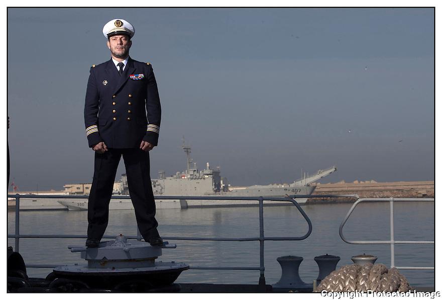 Porte hélicoptères Jeanne d'Arc<br /> Ocean Atlantique<br /> Casablanca<br /> Capitaine de frégate Didier Nyffenegger.