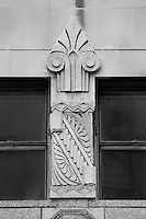 Architectural detail - Black & White. Documenting the work of the craftsmen, artisans, stone masons, sculptors and physical legacy of numerous architects, engineers and construction companies in years past.