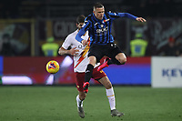 Josip Ilicic of Atalanta flicks thew ball past Federico Fazio of AS Roma with his heel during the Serie A match at Gewiss Stadium, Bergamo. Picture date: 15th February 2020. Picture credit should read: Jonathan Moscrop/Sportimage PUBLICATIONxNOTxINxUK SPI-0488-0073<br /> Atalanta BC - AS Roma <br /> Photo Jonathan Moscrop / Sportimage / Imago / Insidefoto