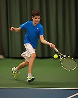 Rotterdam, The Netherlands, 07.03.2014. NOJK ,National Indoor Juniors Championships of 2014, Frank Jonker (NED)   Jort Nijdam (NED)<br /> Photo:Tennisimages/Henk Koster