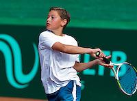 Netherlands, Rotterdam August 05, 2015, Tennis,  National Junior Championships, NJK, TV Victoria, Freek van Donselaar<br /> Photo: Tennisimages/Henk Koster