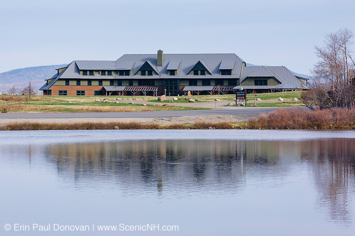 Appalachian Mountain Club's Highland Center from Saco Lake in Carroll, New Hampshire USA. The Highland Center occupies the site of the historic Crawford House.