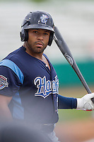 Corpus Christi Hooks outfielder Brandon Meredith (22) during the Texas League baseball game against the San Antonio Missions on May 10, 2015 at Nelson Wolff Stadium in San Antonio, Texas. The Missions defeated the Hooks 6-5. (Andrew Woolley/Four Seam Images)