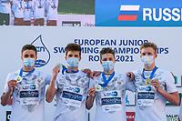 Russia<br /> 4x100 fresstyle relay men<br /> swimming, nuoto<br /> LEN European Junior Swimming Championships 2021<br /> Rome 2176<br /> Stadio Del Nuoto Foro Italico <br /> Photo Giorgio Scala / Deepbluemedia / Insidefoto