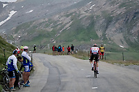 up the Col de l'Iseran (HC/2751m/13km@7.3%) <br /> > where the race was eventually stopped (at the top) because of landslides further up the road (after a severe hail storm in Tignes)<br /> <br /> Stage 19: Saint-Jean-de-Maurienne to Tignes(126km)<br /> 106th Tour de France 2019 (2.UWT)<br /> <br /> ©kramon