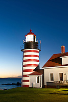 West Quoddy Head Light , Lubec, Maine, USA