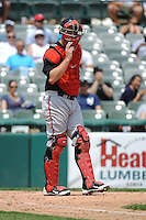 Richmond Flying Squirrels catcher Andrew Susac (6) during game against the Trenton Thunder at ARM & HAMMER Park on June 9 2013 in Trenton, NJ.  Trenton defeated Richmond 3-2.  Tomasso DeRosa/Four Seam Images