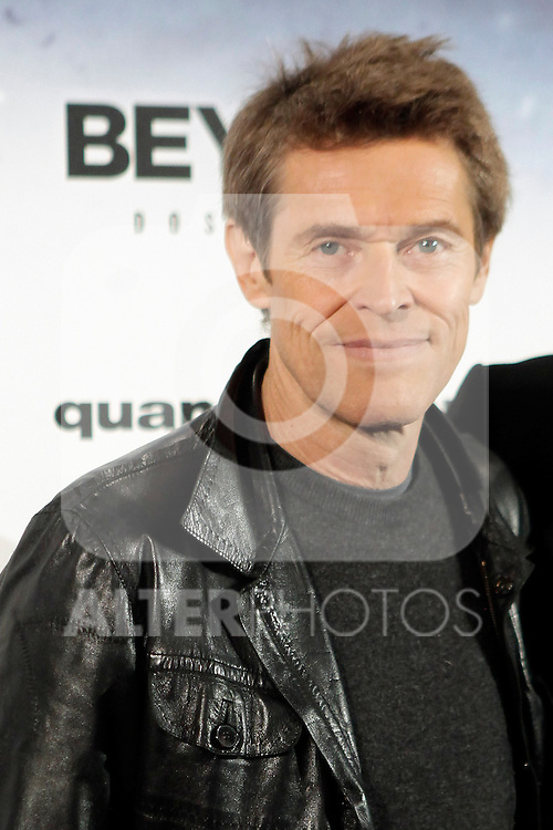 Actor Willem Dafoe attends 'Beyond: dos almas' ('Beyond: two souls') presentation photocall at Callao cinema on September 30, 2013 in Madrid, Spain. (ALTERPHOTOS/Victor Blanco)