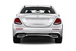 Straight rear view of 2018 Mercedes Benz E-Class E300 4 Door Sedan Rear View  stock images