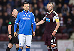 Hearts v St Johnstone....02.11.13     SPFL<br /> Sanil Jahic makes his St Johnstone debut<br /> Picture by Graeme Hart.<br /> Copyright Perthshire Picture Agency<br /> Tel: 01738 623350  Mobile: 07990 594431
