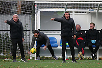 Aveley manager Keith Rowland during Romford vs Aveley, Pitching In Ishmian League North Division Football at Mayesbrook Park on 26th September 2020