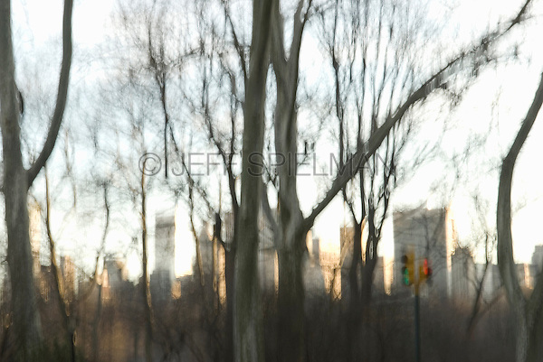 AVAILABLE SOON FOR LICENSING FROM GETTY IMAGES.  I'll post the Getty Images ID# as soon as it's available.<br /> <br /> Central Park with Midtown Manhattan Skyline in the Distance on a Late Winter Afternoon, Manhattan, New York City, New York State, USA