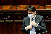 The Italian Premier Giuseppe Conte wears a face mask during the Question time at the Chamber of Deputies. Rome (Italy), July 1st 2020<br /> Foto Samantha Zucchi Insidefoto