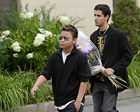 Montreal (QC) CANADA - August 13, 2008 - File Photo -<br /> <br /> Funeral of 18 years old Freddy Villanueva, shot dead by Montreal Police while he tried to stop them from arresting his older brother in street gang controlled are of Montreal-Nord.