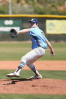 Nick Burdi #19 of Downers Grove South High School (Ill.) pitches against Brighton High School (Colo.) in the Big League Dugout tournament at Horizon High School on March 28, 2011 in Scottsdale, Arizona..Photo by:  Bill Mitchell/Four Seam Images