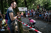 Fumiyuki Beppu (JPN/EF Education - Nippo) up the infamous Muur van Geraardbergen / Kapelmuur<br /> <br /> 17thBenelux Tour 2021 (2.UWT)<br /> (Final) Stage 7: from Namur to Geraardsbergen (178km)<br /> <br /> ©kramon