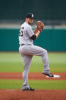 Jackson Generals pitcher Jake Zokan (46) delivers a pitch during a game against the Montgomery Biscuits on April 29, 2015 at Riverwalk Stadium in Montgomery, Alabama.  Jackson defeated Montgomery 4-3.  (Mike Janes/Four Seam Images)