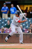Greenville Drive first baseman Boss Moanaroa #29 during a game against the Lexington Legends on April 18, 2013 at Whitaker Bank Ballpark in Lexington, Kentucky.  Lexington defeated Greenville 12-3.  (Mike Janes/Four Seam Images)