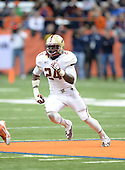 Boston College Eagles linebacker Kevin Pierre-Louis (24) during a game against the Syracuse Orange at the Carrier Dome on November 30, 2013 in Syracuse, New York.  Syracuse defeated Boston College 34-31.  (Copyright Mike Janes Photography)