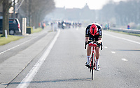 Brent Van Moer (BEL/Lotto Soudal) is the last rider to try a solo attack<br /> <br /> 45th Oxyclean Classic Brugge-De Panne 2021 (ME/1.UWT)<br /> 1 day race from Bruges to De Panne (204km)<br /> <br /> ©kramon
