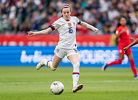 CARSON, CA - FEBRUARY 9: Rose Lavelle #16 of the United States takes a shot during a game between Canada and USWNT at Dignity Health Sports Park on February 9, 2020 in Carson, California.
