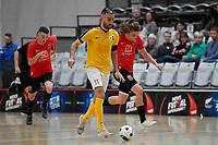 Lucas Da Silva of Capital during the Men's Futsal SuperLeague, Canterbury United Futsal Dragons v Capital Futsal at ASB Sports Centre, Wellington on Saturday 31 October 2020.<br /> Copyright photo: Masanori Udagawa /  www.photosp ort.nz