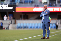 SAN JOSE, CA - MAY 15: Head coach of the Portland Timbers FC Giovanni Savarese during a game between Portland Timbers and San Jose Earthquakes at PayPal Park on May 15, 2021 in San Jose, California.