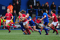 Kerin Lake of Wales in action during the Women's six nations championship match between the Wales and Italy at Cardiff Arms Park in Cardiff, Wales, UK. Sunday 02 February 2020